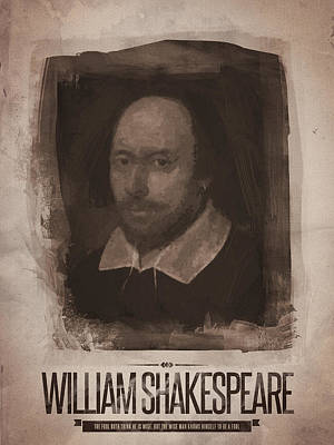 Shakespeare Digital Art - William Shakespeare by Afterdarkness