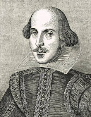 William Shakespeare The Bard Of Avon Print by David Carton
