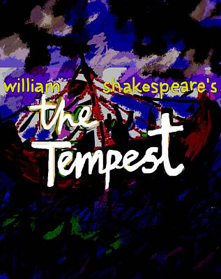 Shakespeare Drawing - William Shakespeare's The Tempest Poster  by Paul Sutcliffe