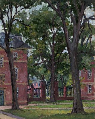 Liberal Painting - Williams College Frosh Quad by Thor Wickstrom