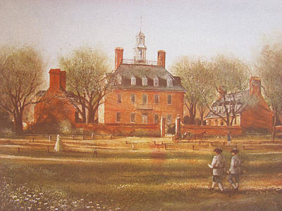 Politics Painting - Williamsburg Governors Palace by Charles Roy Smith