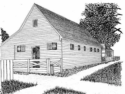 Williamsburg Virginia Restoration District Barn Print by Dawn Boyer
