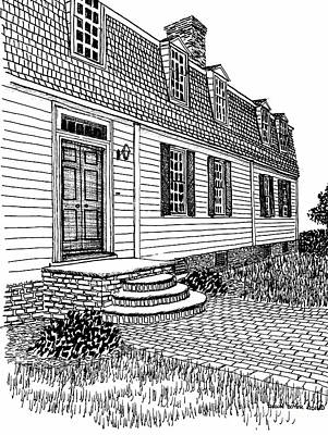 Williamsburg Virginia Restored District Home Print by Dawn Boyer