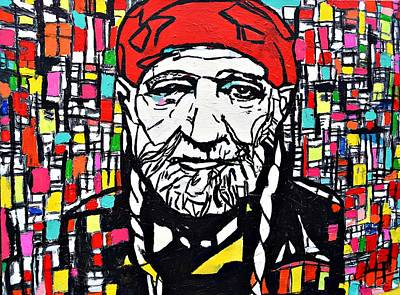 Music Themed Art Painting - Willie Nelson #2 by Nicole Gavin