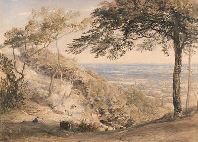 Kent Painting - Wilmot's Hill, Kent by Samuel Palmer