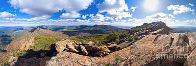 Wilpena Pound And St Mary Peak Print by Bill  Robinson