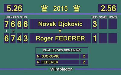 Venus Williams Digital Art - Wimbledon 2015 Final Djokovic V Federer by Carlos Vieira