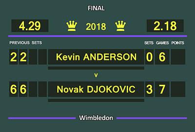 Venus Williams Digital Art - Wimbledon Scoreboard - Customizable by Carlos Vieira