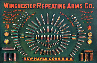 Winchester 1884 Cartridge Board Print by Unknown