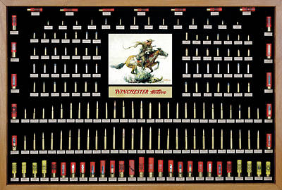 Winchester Ammunition Cartridge Board Print by Unknown