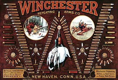 Winchester W Cartridge Board Print by Unknown