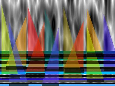 Abstract Digital Art - Wind In My Sails by Kathleen Sartoris