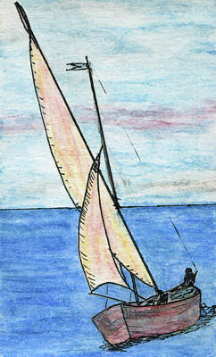 Wind In The Sails Print by R Kyllo
