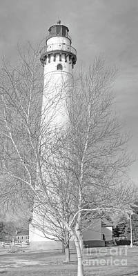 Wind Point Winter Print by Ann Horn