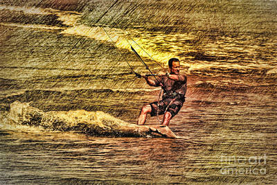 Wind Surfing Print by Deborah Benoit