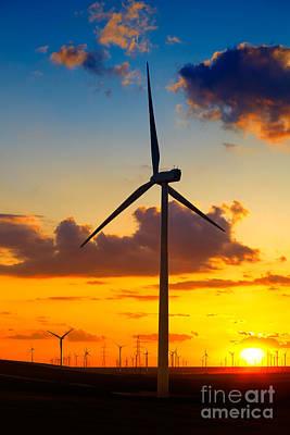 Generator Photograph - Wind Turbines by Gabriela Insuratelu