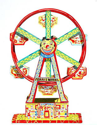 Wind-up Ferris Wheel Print by Glenda Zuckerman