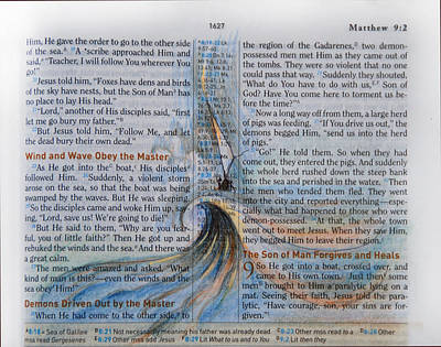 Jesus Drawing - Wind, Waves And Master by Ron Cantrell
