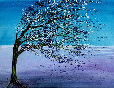 Windblown Print by Brenda Owen