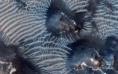 Windblown Sediments. Noctis Labyrinthus. Mars Print by Celestial Images