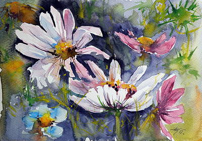Windflowers Print by Kovacs Anna Brigitta