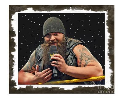 Windham Lawrence Rotunda Pro Wrestling Character Bray Wyatt Print by Jim Fitzpatrick