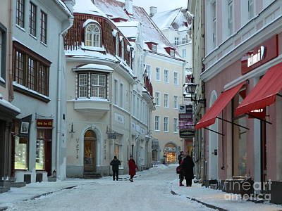 Snow Photograph - Winding Estonia Road by Margaret Brooks