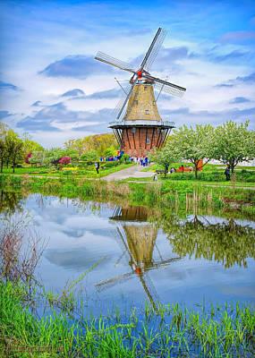 Flour Photograph - Windmill Island Gardens by LeeAnn McLaneGoetz McLaneGoetzStudioLLCcom