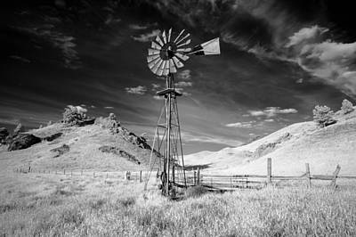 Windmill Stained Print by Todd Klassy