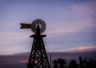 Windmill Sunset Print by Mountain Dreams