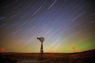 Windmills And Stars Print by Darren White