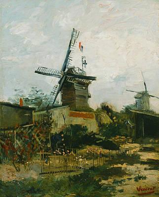 Montmartre Painting - Windmills On Montmartre by Vincent van Gogh