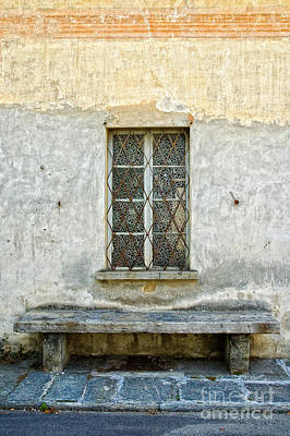 Window Bench Photograph - Window And Bench by Silvia Ganora