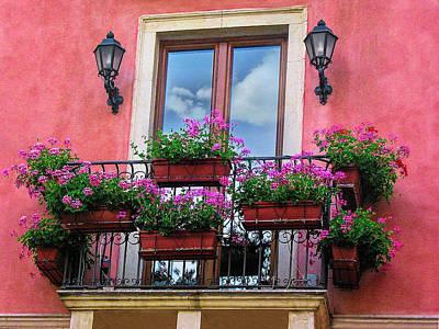 Window In Sicily Print by Andrew Soundarajan