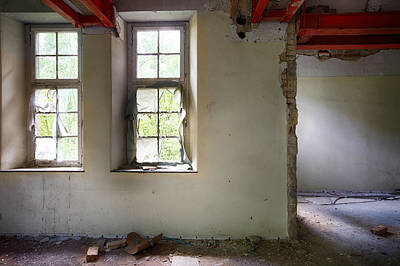 Old Home Place Photograph - Window Light Abandoned Building by Dirk Ercken