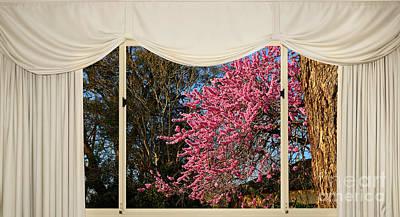 Window Of Spring By Kaye Menner Print by Kaye Menner