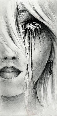 Jewels Drawing - Window Of The Soul by Rachel Christine Nowicki