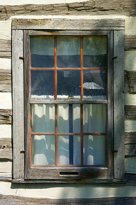 Window On Log Cabin Print by Donald  Erickson
