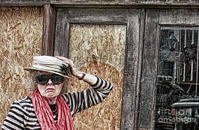 Senior Digital Art - Window Shopping - Rural America by Steven Digman