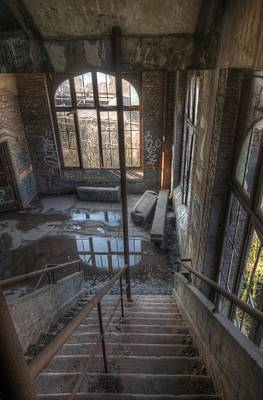 Building Factory Work Vintage Digital Art - Window Steps by Nathan Wright
