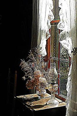 Oil Lamp Digital Art - Window Sunshine 2 by Sheri McLeroy