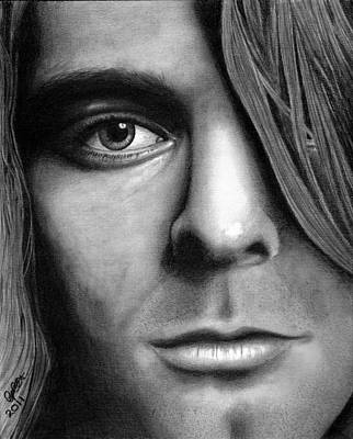 Kurt Cobain Drawing - Window To A Troubled Soul by Chris Cox