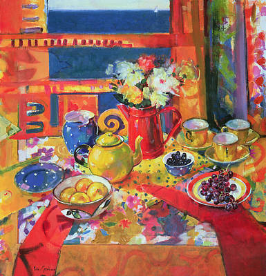 Teapot Painting - Window To Cannes by Peter Graham
