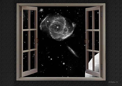 Window To The Cosmos Print by Brian Wallace