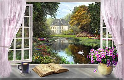 British Digital Art - Window With A View by Dominic Davison