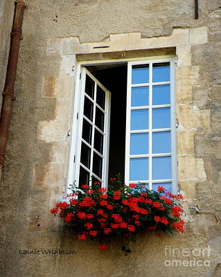 Window With Flowers Print by Lainie Wrightson