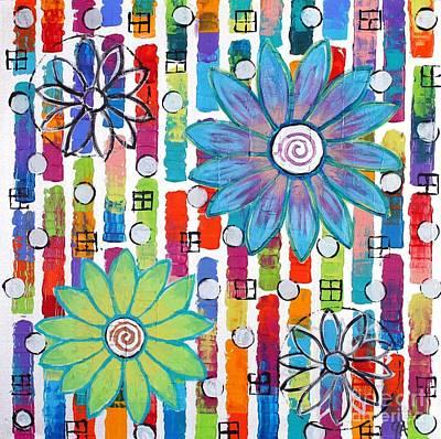 Windows And Flowers Print by Jeremy Aiyadurai