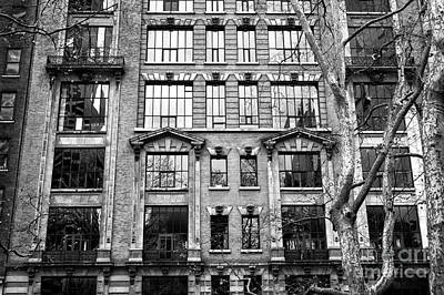 Windows From Bryant Park Print by John Rizzuto