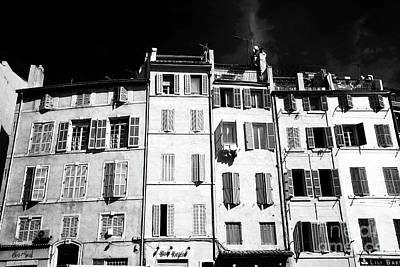 Windows In Marseille Print by John Rizzuto