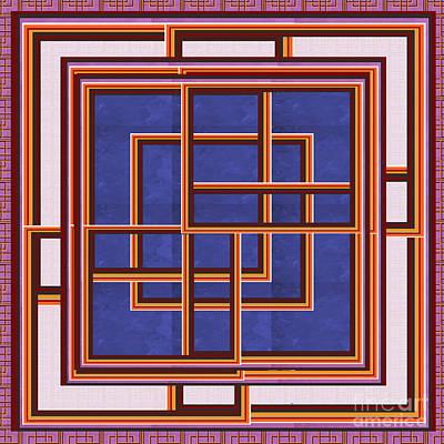 Windows Maze Magic Graphic Art Navinjoshi At Fineartamerica.com Elegant Interior Decoractions Print  Original by Navin Joshi